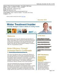 Water Treatment Insider - November 2012 Issue - Association of ...