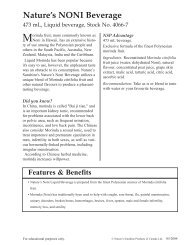 New product Fact sheets 2004.q - Healthy You Naturally