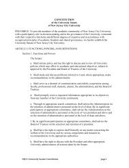 CONSTITUTION of the University Senate of New Jersey City ...