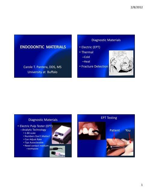 Endodontic Materials 1 2011.pdf - University at Buffalo