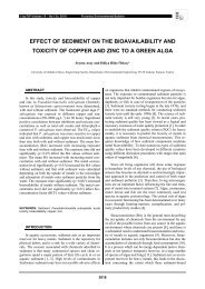 effect of sediment on the bioavailability and toxicity of copper and ...