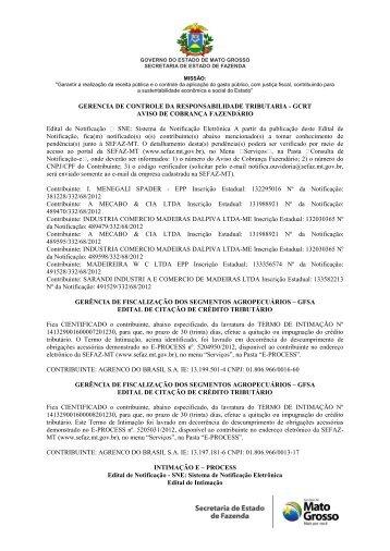 GERENCIA DE CONTROLE DA RESPONSABILIDADE ... - Sefaz