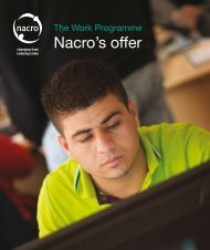 The Work Programme: Nacro's offer