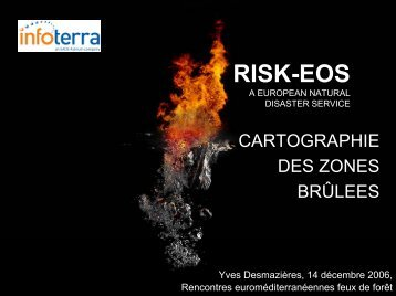 RISK-EOS Delivering geoinformation services for floods and fires