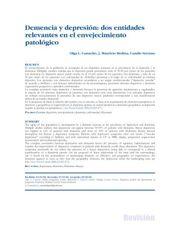 Demencia y depresión - Asociación Colombiana de Neurología