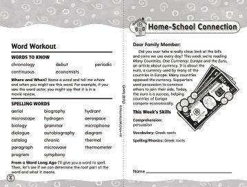 Home-School Connection - Treasures - Macmillan/McGraw-Hill