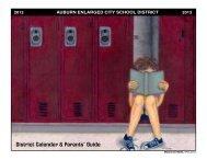 District Calendar & Parents' Guide - Auburn School District - cnyric