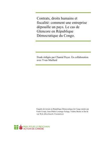 Glencore en RDC - MultiWatch
