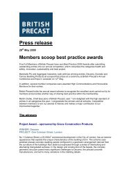 Members scoop Best Practice awards - British Precast