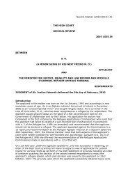 (a minor) 2010 IEHC 151.pdf - European Database of Asylum Law