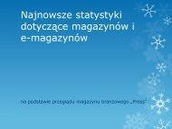 Statystyki magazynów i e-magazynów