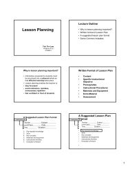 Lesson Planning Lecture (2006)