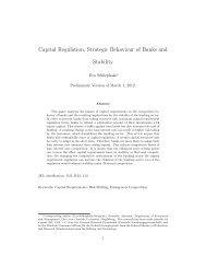 Capital Regulation, Strategic Behaviour of Banks and Stability