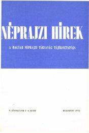 A magyar néprajztudomány bibliográfiája 1975 ... - Néprajzi Múzeum
