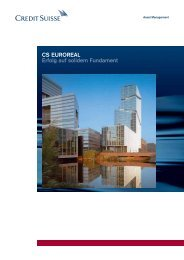 CS EUROREAL Erfolg auf solidem Fundament