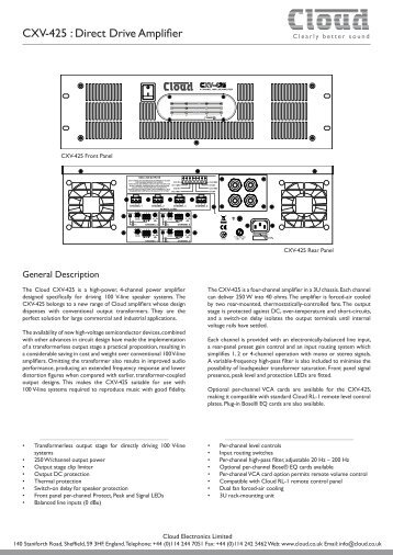 Datasheet - Cloud