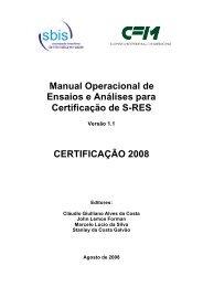 Manual Operacional de Ensaios e Análises para Certificação ... - SBIS