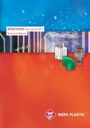 WEFATHERM Pipe System PP-R Technical Manual - Plastic Systems