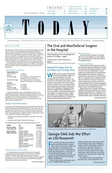 A Publication of the American Association of Oral