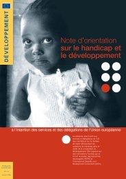 Note d'orientation sur le handicap et le développement à l'intention ...