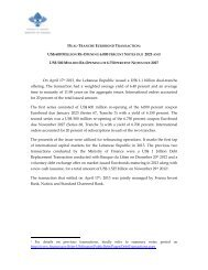 Brief Note $1. 1 BN Dual Tranche - April 2013 - Ministry of Finance