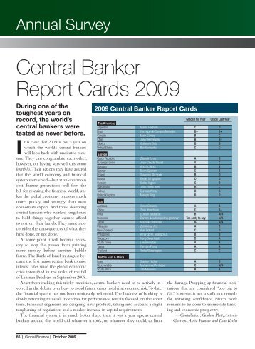 The Central Bankers Report 2009