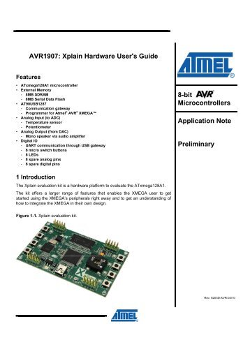 AVR1907: Xplain Hardware User's Guide - Atmel Corporation