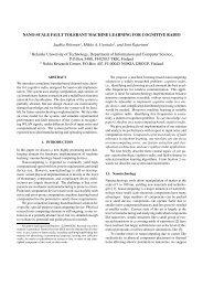 NANO-SCALE FAULT TOLERANT MACHINE LEARNING FOR ...