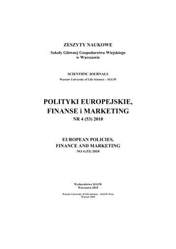pobierz - Wydział Nauk Ekonomicznych SGGW w Warszawie