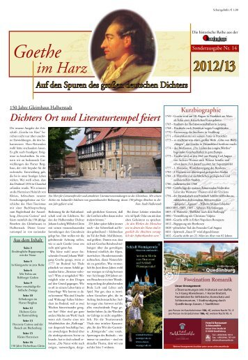 Goethe im Harz - Harzdruckerei GmbH