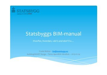 Statsbyggs BIM-‐manual - buildingSMART