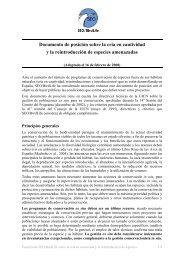 Posición conservación Ex-Situ - SEO/BirdLife
