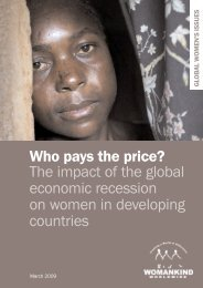 Who pays the price? The impact of the global ... - Gender Matters