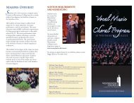 Vocal Music & Choral Program - Westminster College