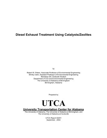 Diesel Exhaust Treatment Using Catalysts/Zeolites - University ...