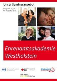 Programm der Ehrenamtsakademie - Diakonie Rantzau-Münsterdorf