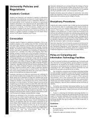 University Policies and Regulations - Academic Calendars - York ...