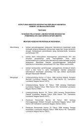 KMK 241-2006 Standar Yanlabkes HIV & oportunistik - Kebijakan ...