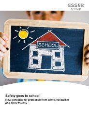 Safety goes to school - ESSER by Honeywell