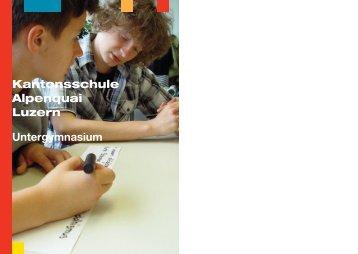 Broschüre zum Untergymnasium - Luzern