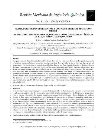 My title - Revista Mexicana de Ingeniería Química