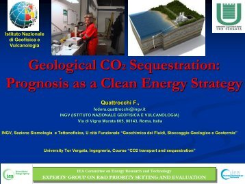 Geological CO₂ Sequestration: Prognosis as a Clean Energy - IEA