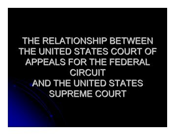 the relationship between the united states court of appeals ... - MIPLA