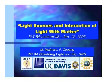 """Light Sources and Interaction of Light With Matter"" - Forensic"