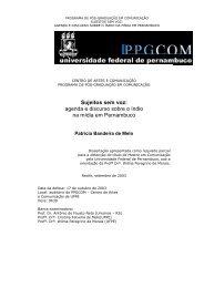 agenda e discurso sobre o índio na mídia em Pernambuco