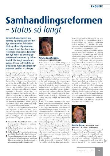 Samhandlingsreformen - status så langt - Utposten