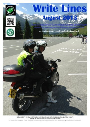 August 2013.pdf - Nottingham Advanced Motorcyclists