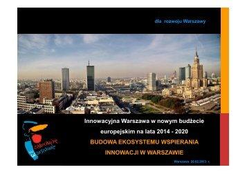 Innowacyjna Warszawa 2020