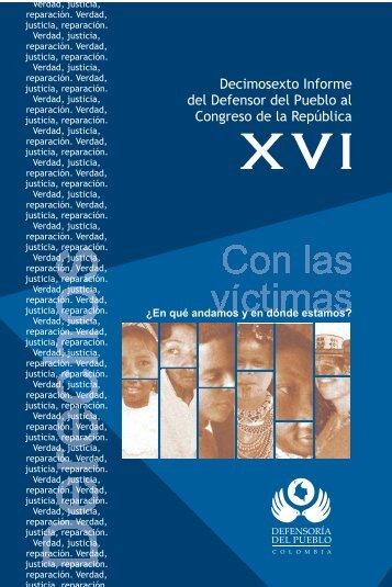Decimosexto Informe al Congreso - Defensoría del Pueblo