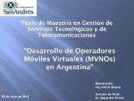 """""""Desarrollo de Operadores Móviles Virtuales (MVNOs) en Argentina"""""""